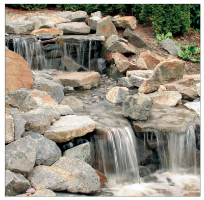 How to build a pondless waterfall pondless water feature for House built on waterfall