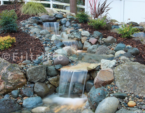 Pondless waterfall kits waterfalls with a clog free for Waterfall supplies