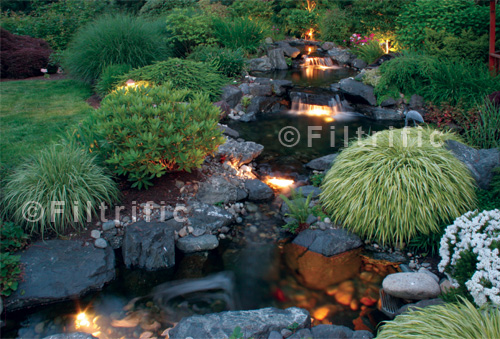 Landscape water features outdoor kits for Backyard ponds and water features